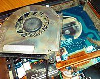 ремонт кулера ноутбука