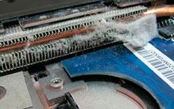 чистка системы охлаждения ноутбука Леново от пыли